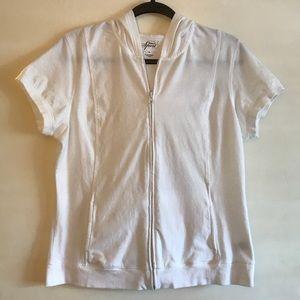 Style & Co Sport Short Sleeve ZIP Front Hoodie